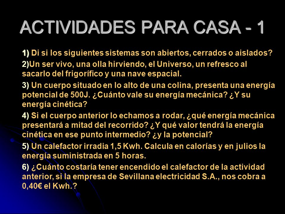 ACTIVIDADES PARA CASA - 1