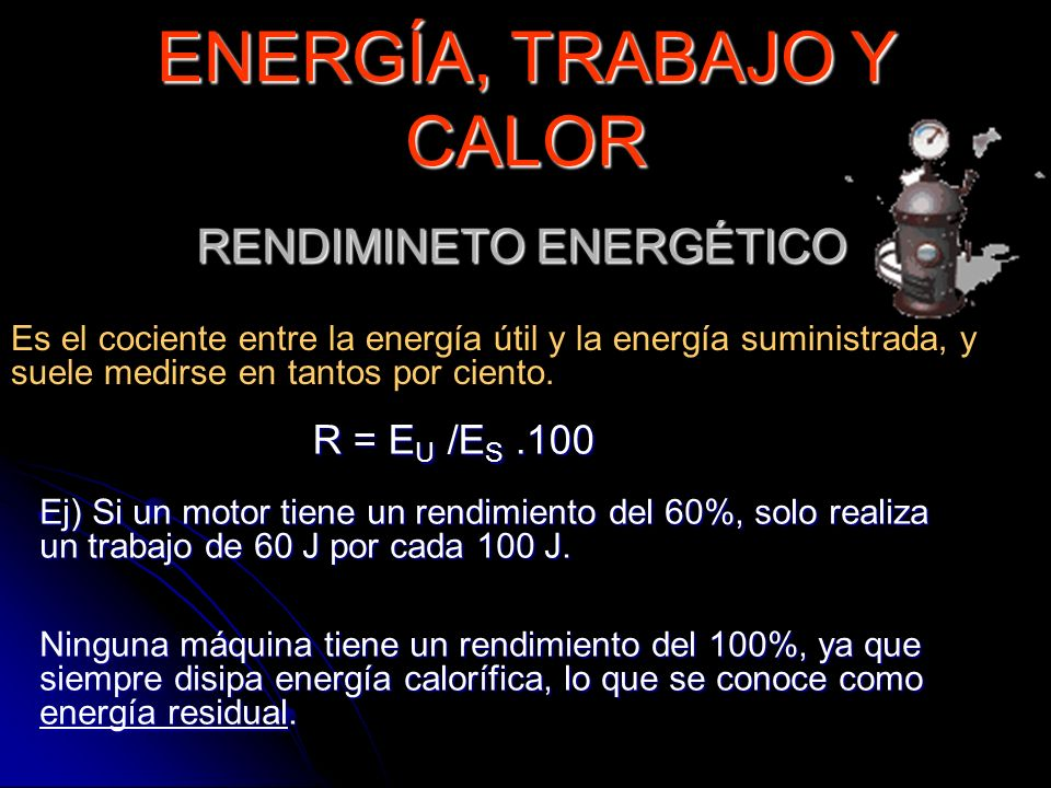 RENDIMINETO ENERGÉTICO