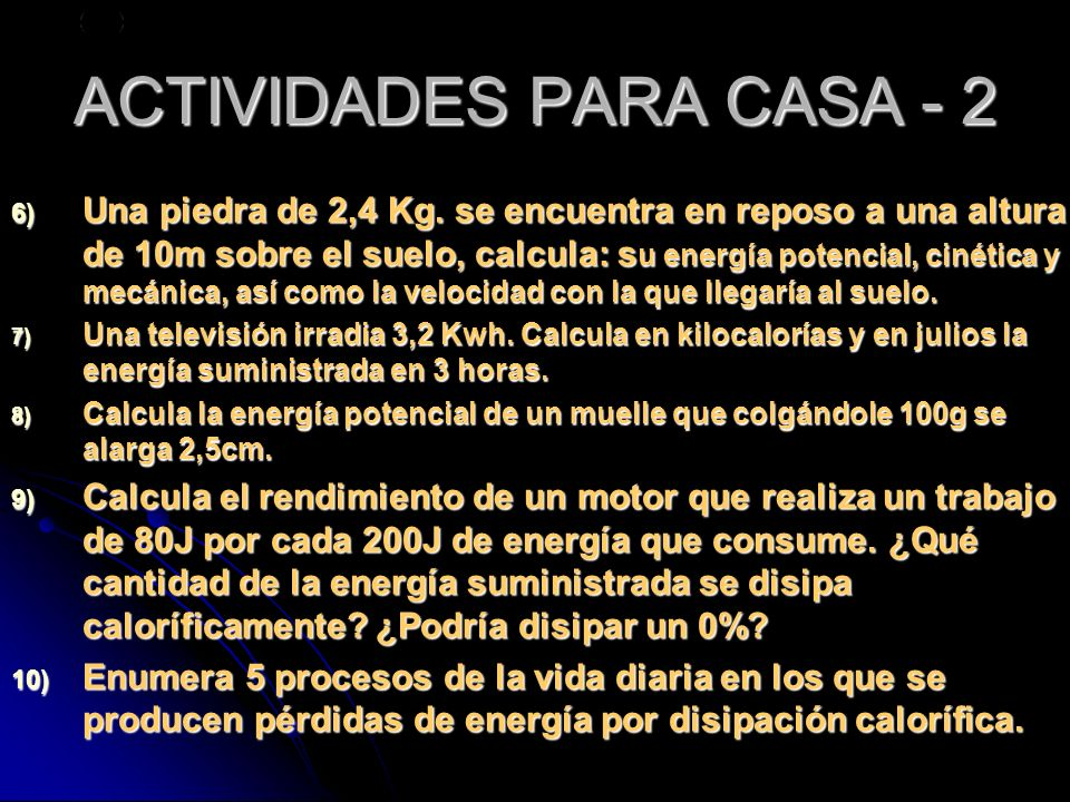 ACTIVIDADES PARA CASA - 2