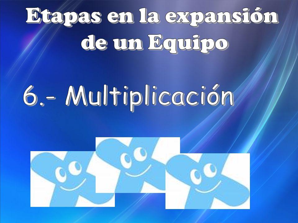 Etapas en la expansión de un Equipo 6.- Multiplicación