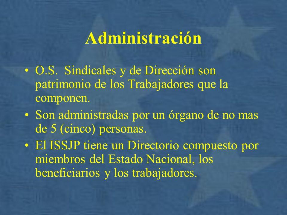 Administración O.S. Sindicales y de Dirección son patrimonio de los Trabajadores que la componen.