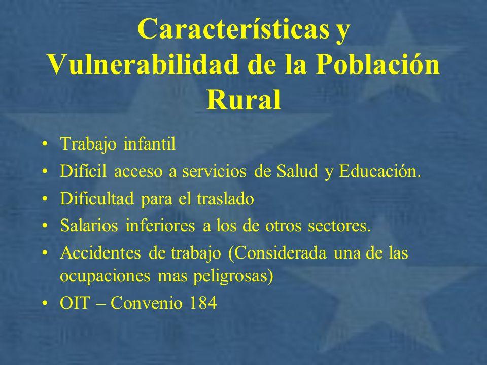 Características y Vulnerabilidad de la Población Rural