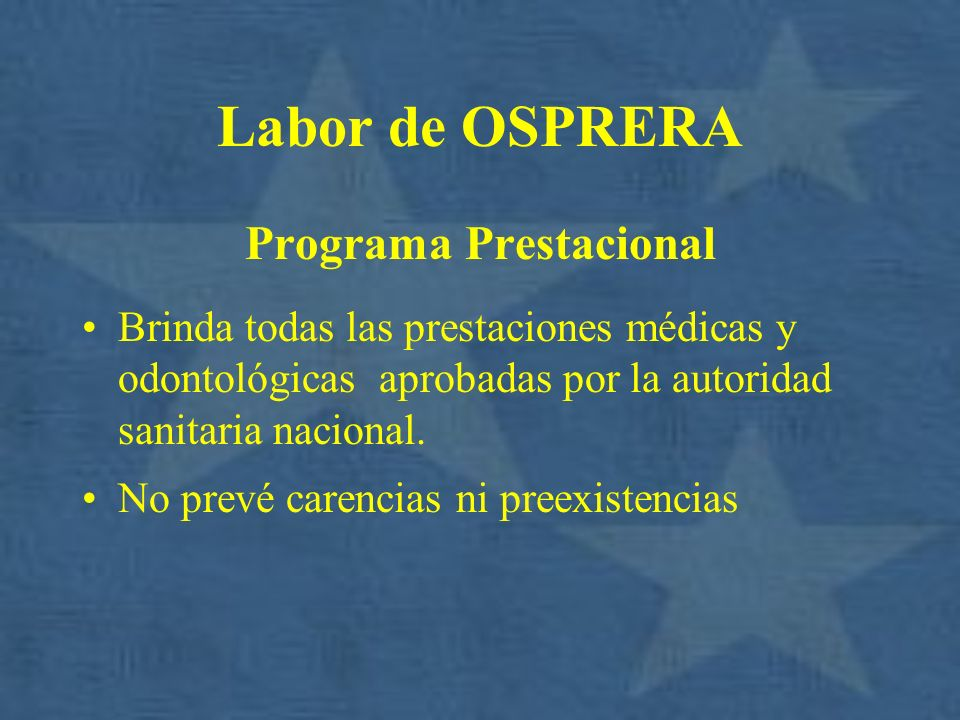Programa Prestacional