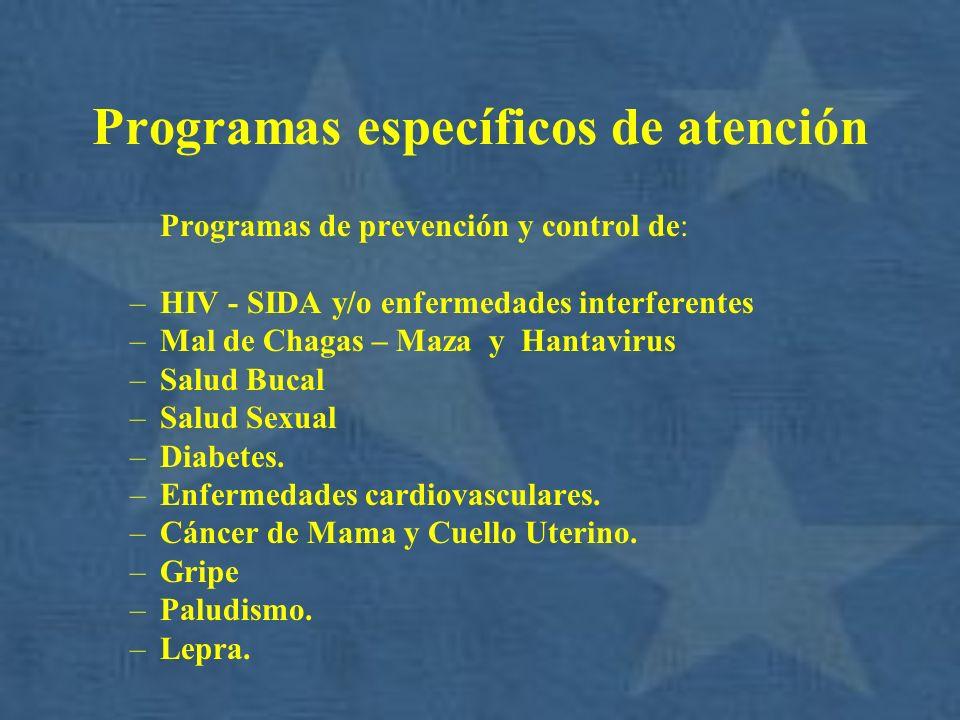 Programas específicos de atención