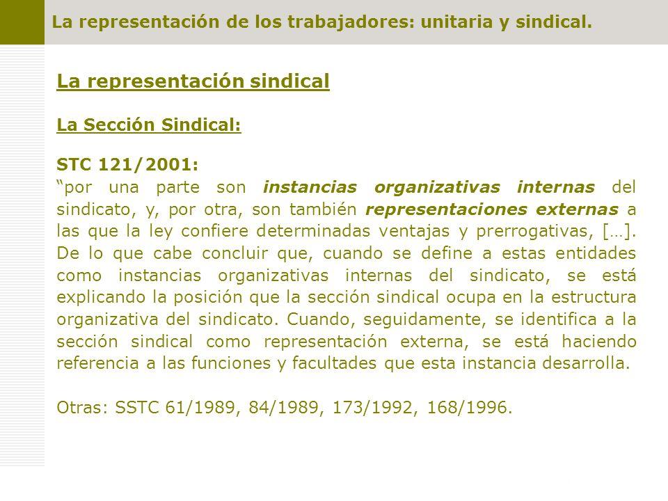 La representación sindical