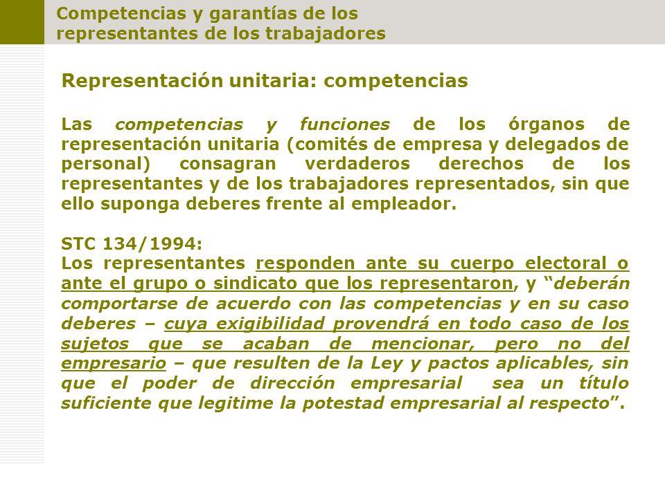 Representación unitaria: competencias