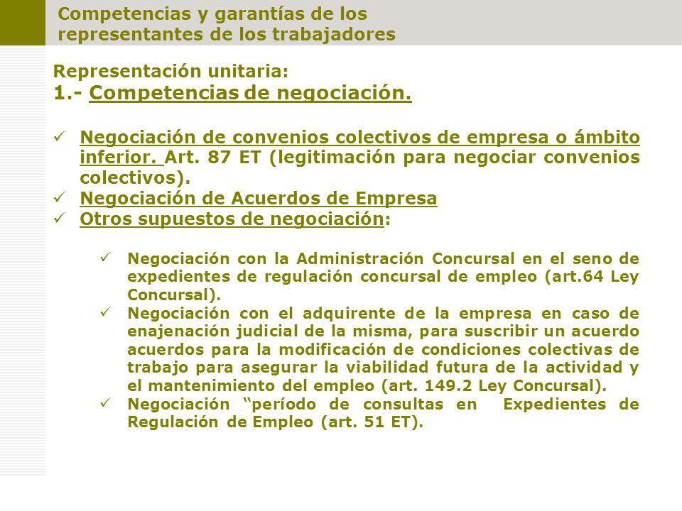 1.- Competencias de negociación.