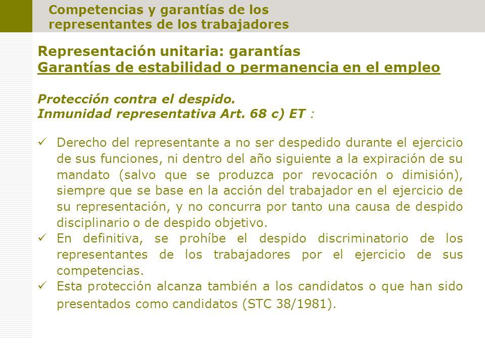 Representación unitaria: garantías