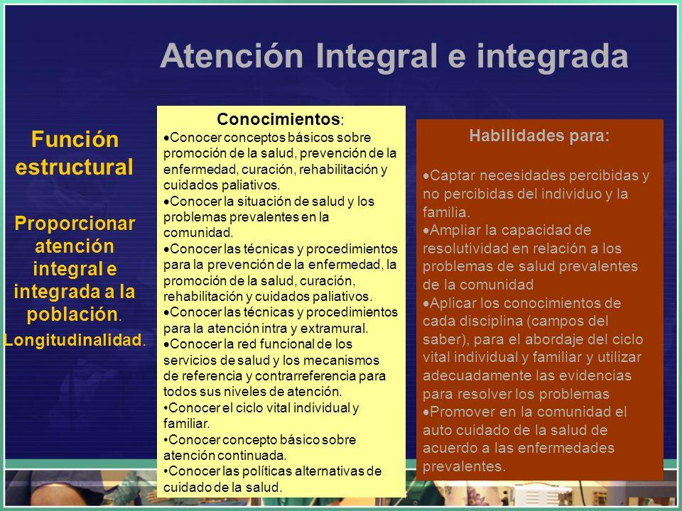 Atención Integral e integrada