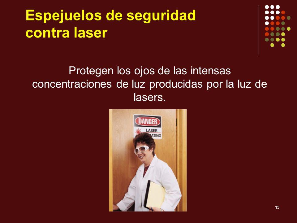 Espejuelos de seguridad contra laser