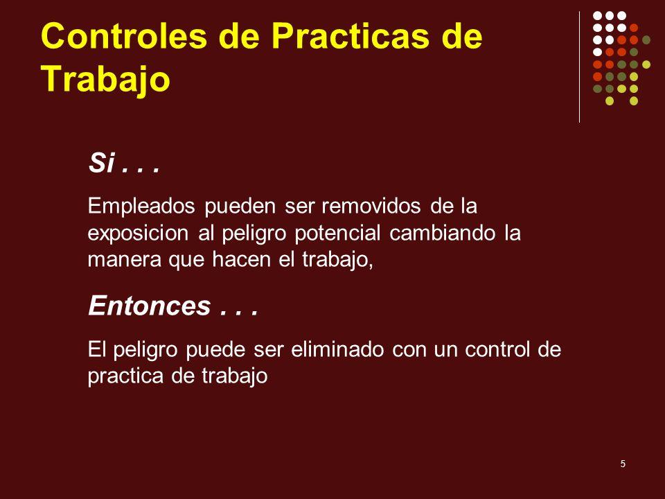 Controles de Practicas de Trabajo