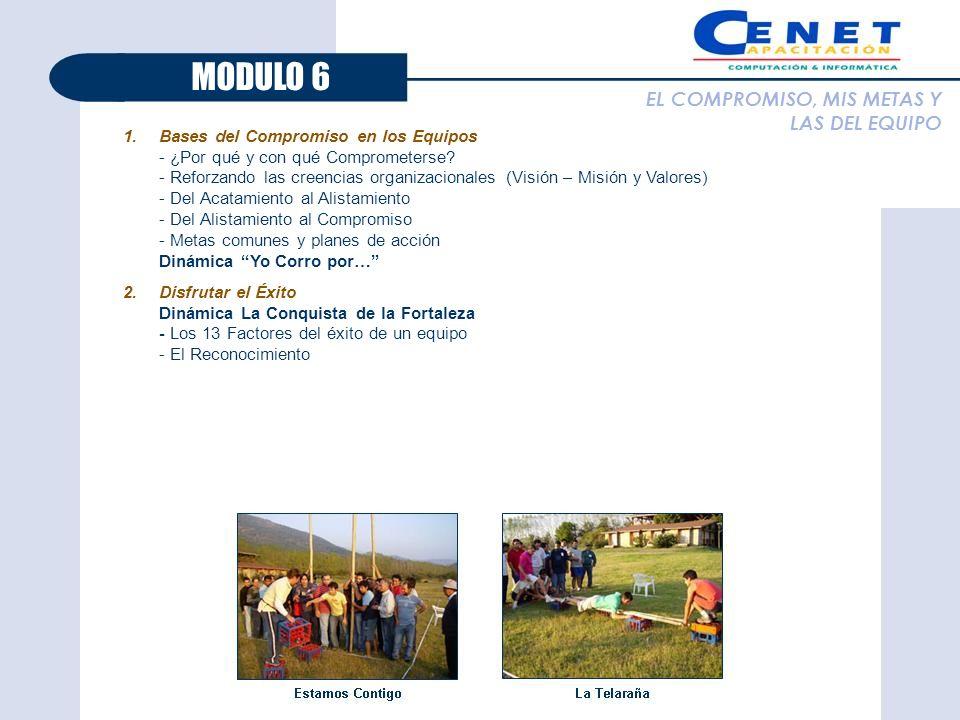 MODULO 6 EL COMPROMISO, MIS METAS Y LAS DEL EQUIPO