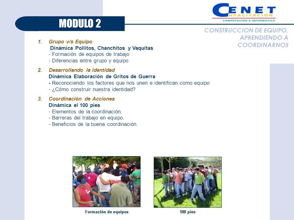 MODULO 2 CONSTRUCCION DE EQUIPO, APRENDIENDO A COORDINARNOS