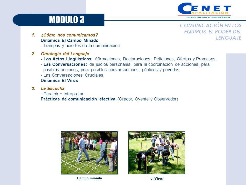 MODULO 3 COMUNICACIÓN EN LOS EQUIPOS, EL PODER DEL LENGUAJE