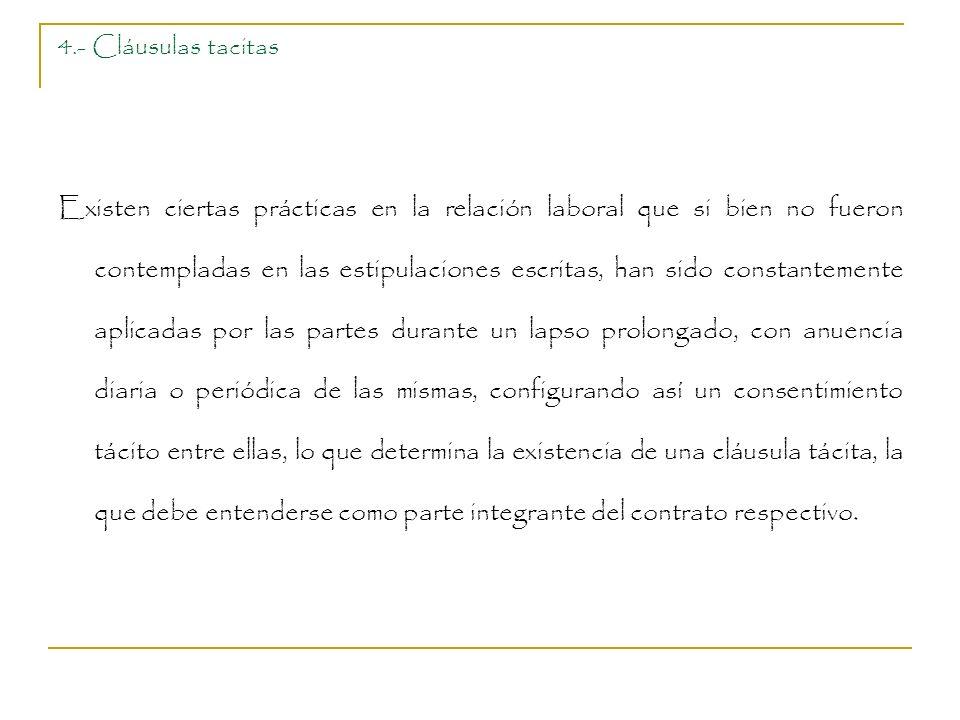 4.- Cláusulas tacitas