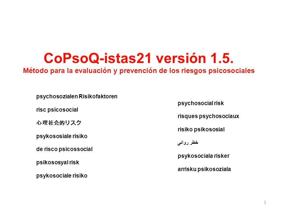 Método para la evaluación y prevención de los riesgos psicosociales