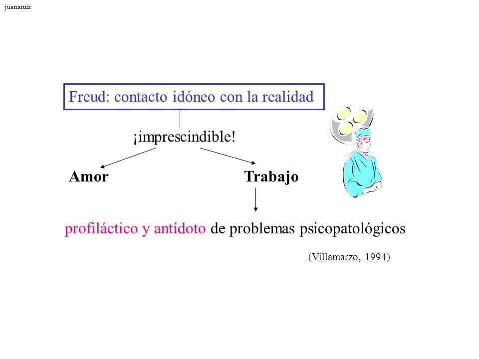 Freud: contacto idóneo con la realidad