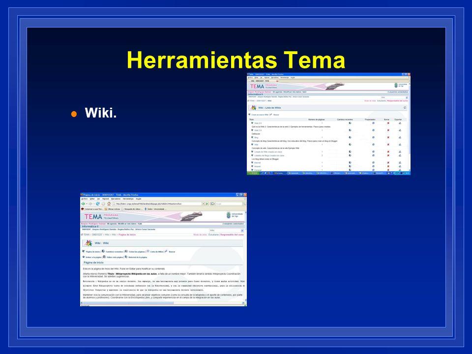 Herramientas Tema Wiki.