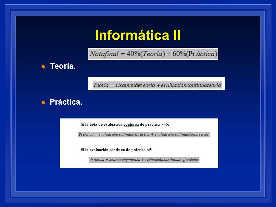 Informática II Teoría. Práctica.