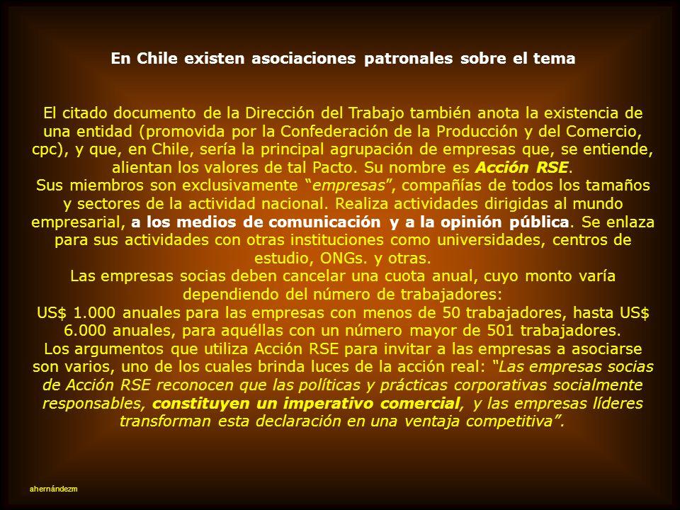 En Chile existen asociaciones patronales sobre el tema
