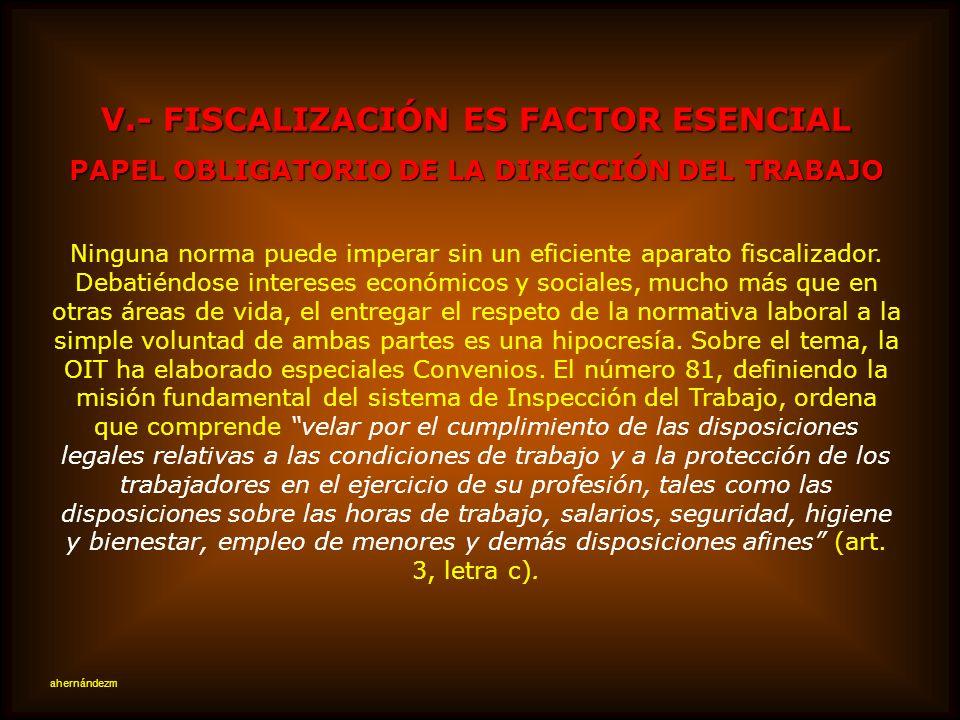 V.- FISCALIZACIÓN ES FACTOR ESENCIAL