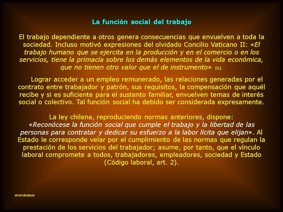 La función social del trabajo