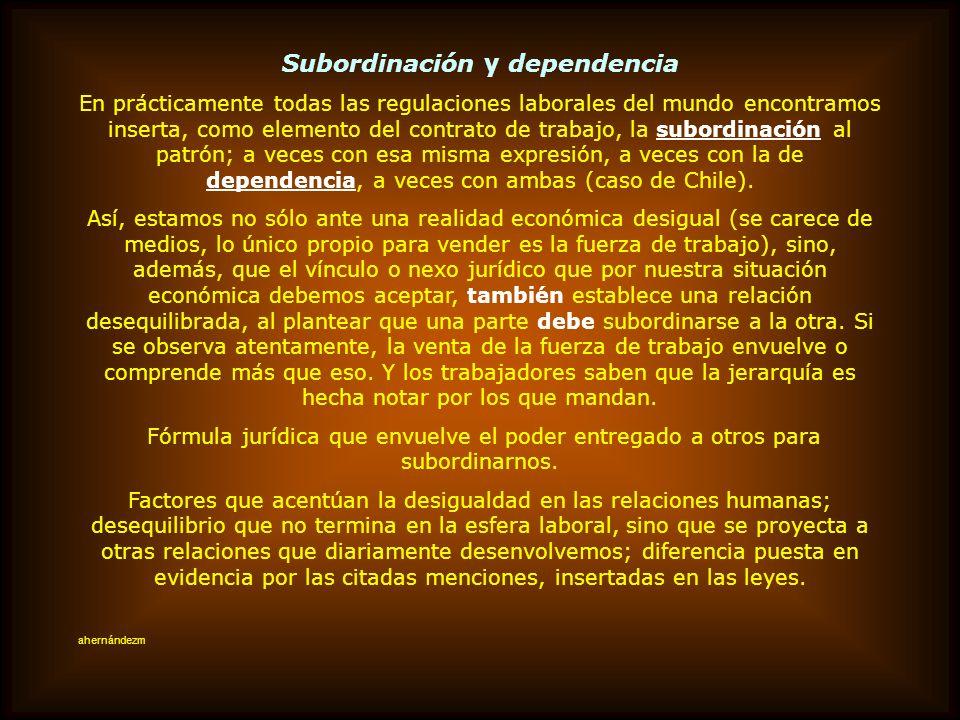 Subordinación y dependencia