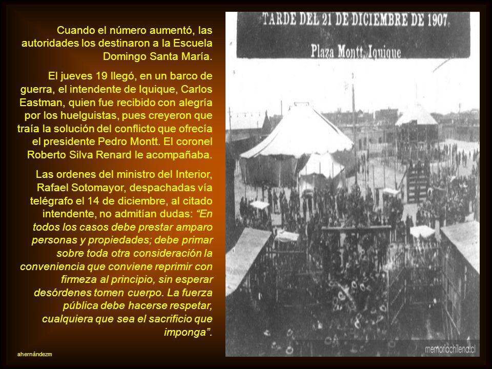 Cuando el número aumentó, las autoridades los destinaron a la Escuela Domingo Santa María.
