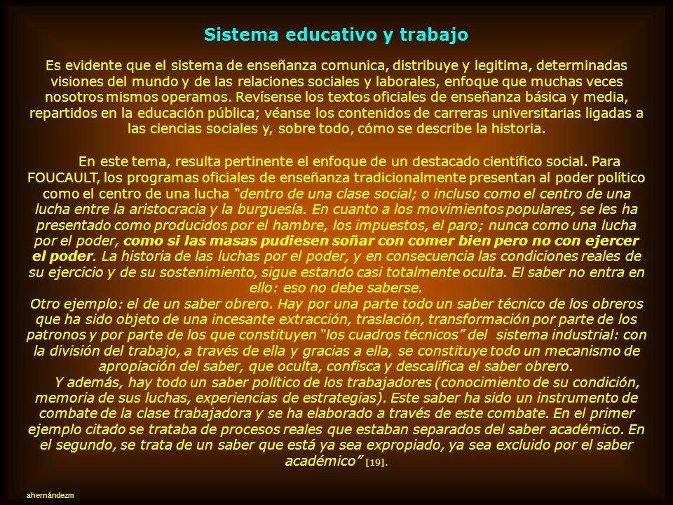 Sistema educativo y trabajo