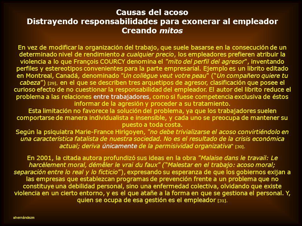 Distrayendo responsabilidades para exonerar al empleador