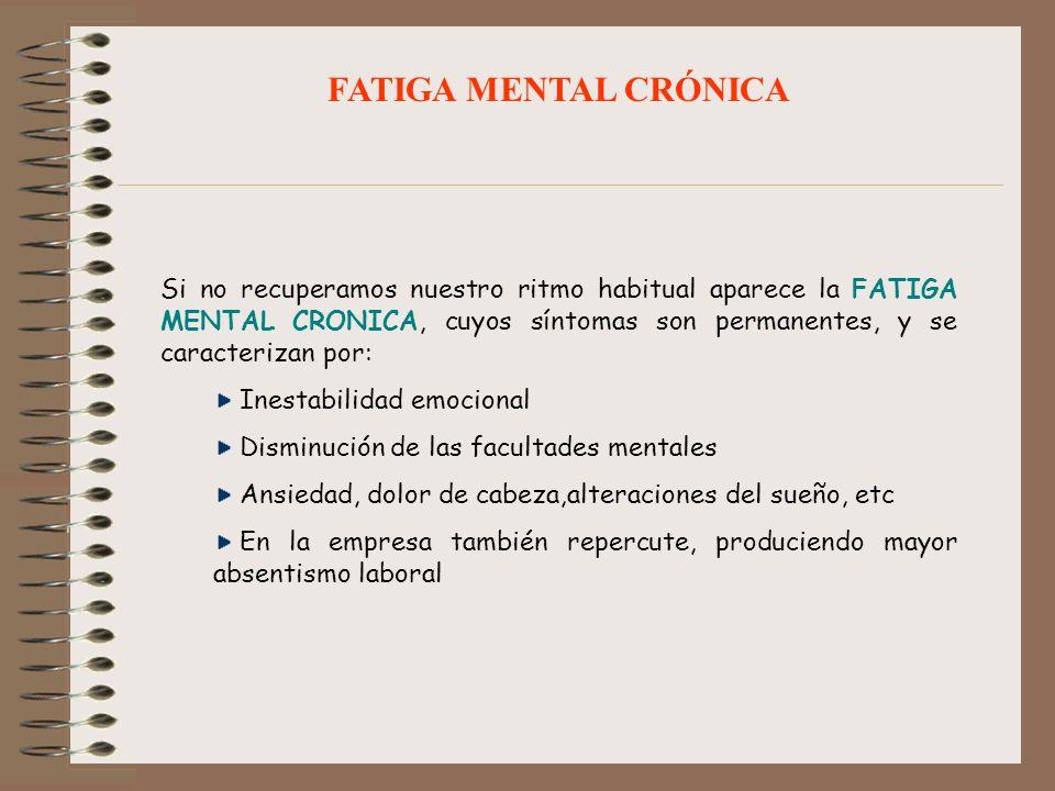 FATIGA MENTAL CRÓNICA