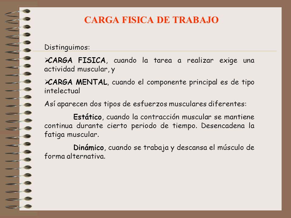 CARGA FISICA DE TRABAJO