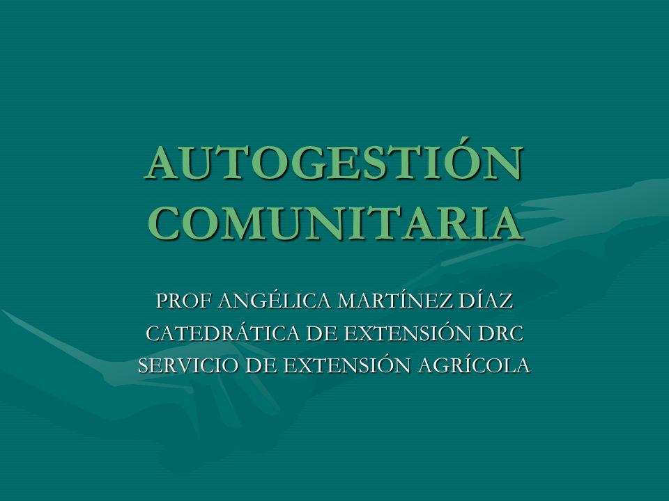 AUTOGESTIÓN COMUNITARIA