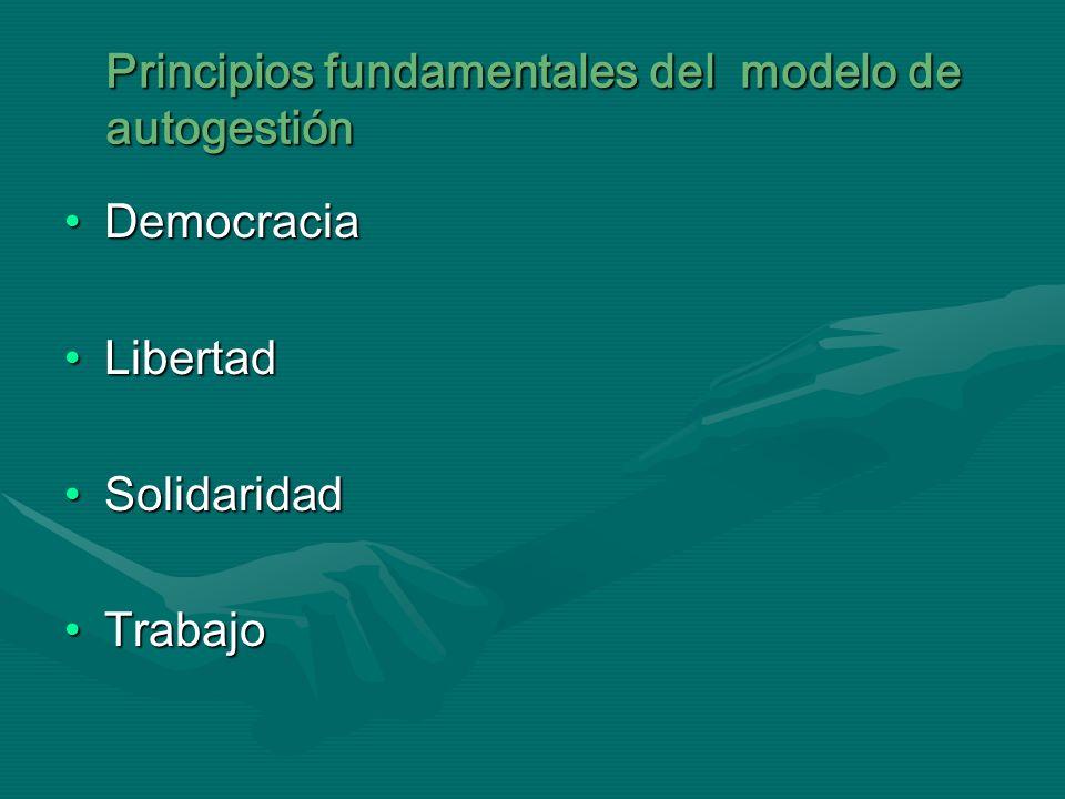 Principios fundamentales del modelo de autogestión