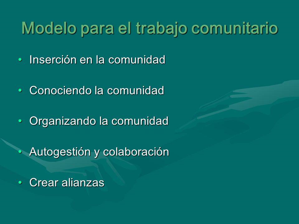 Modelo para el trabajo comunitario
