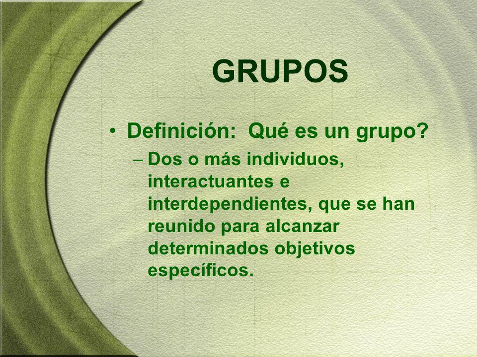 GRUPOS Definición: Qué es un grupo
