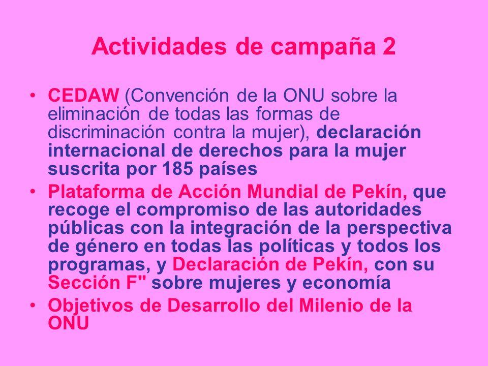 Actividades de campaña 2