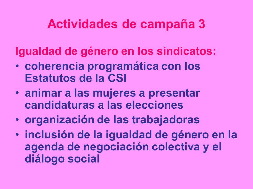 Actividades de campaña 3