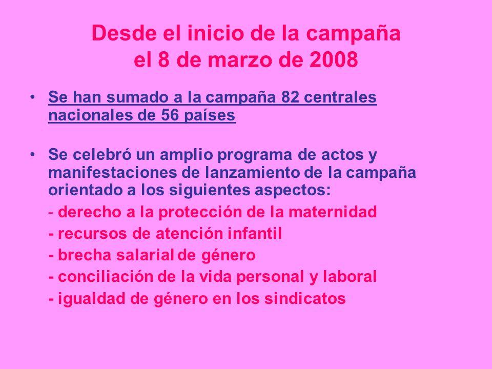 Desde el inicio de la campaña el 8 de marzo de 2008