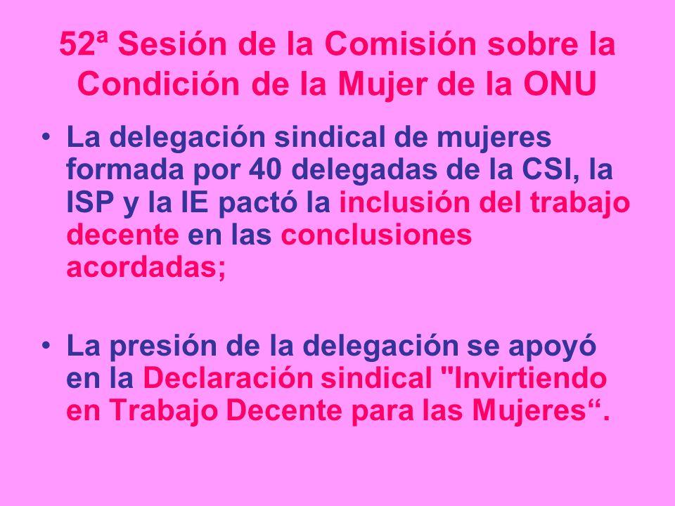 52ª Sesión de la Comisión sobre la Condición de la Mujer de la ONU