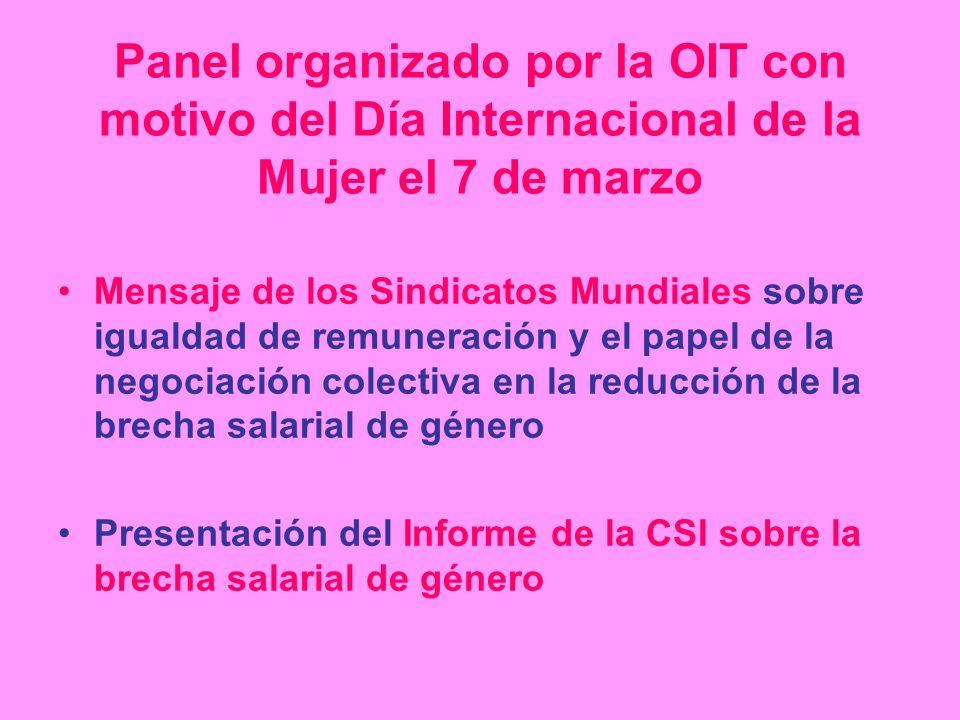 Panel organizado por la OIT con motivo del Día Internacional de la Mujer el 7 de marzo