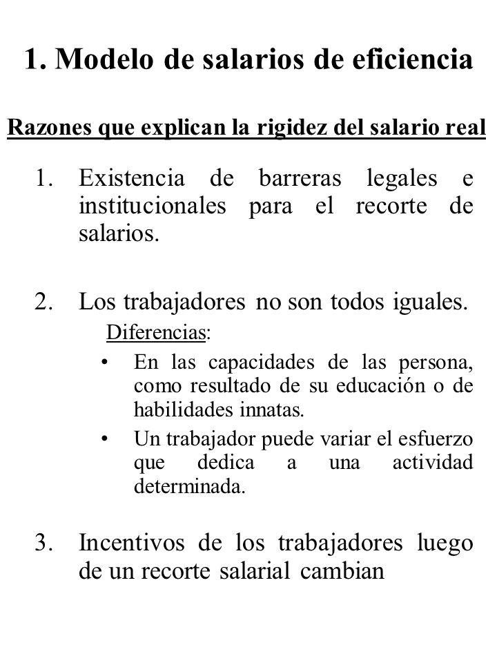 Razones que explican la rigidez del salario real