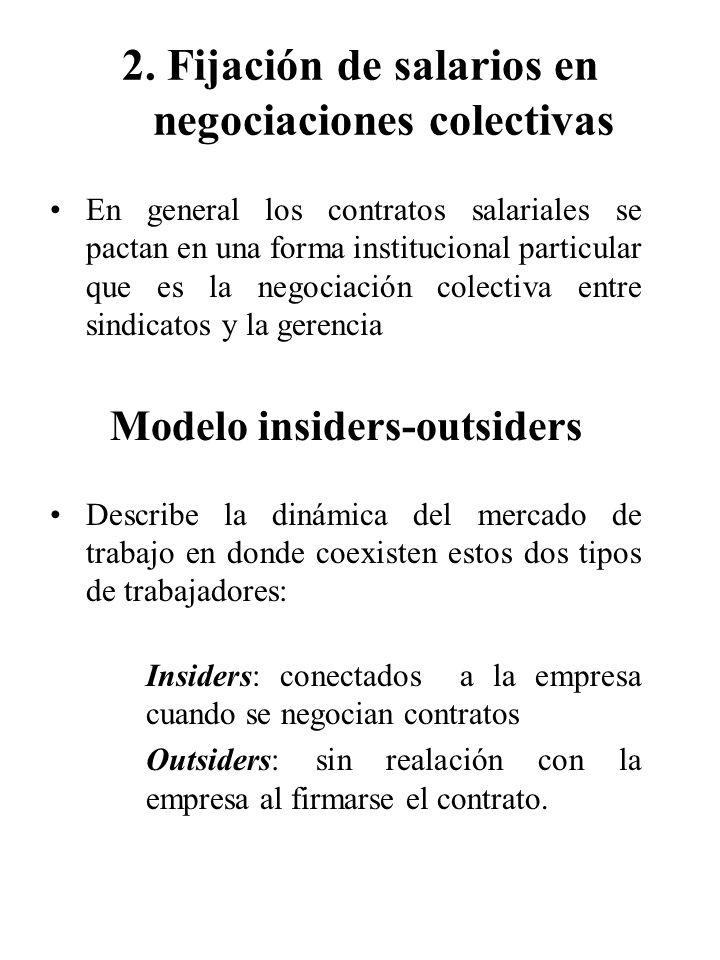 2. Fijación de salarios en negociaciones colectivas