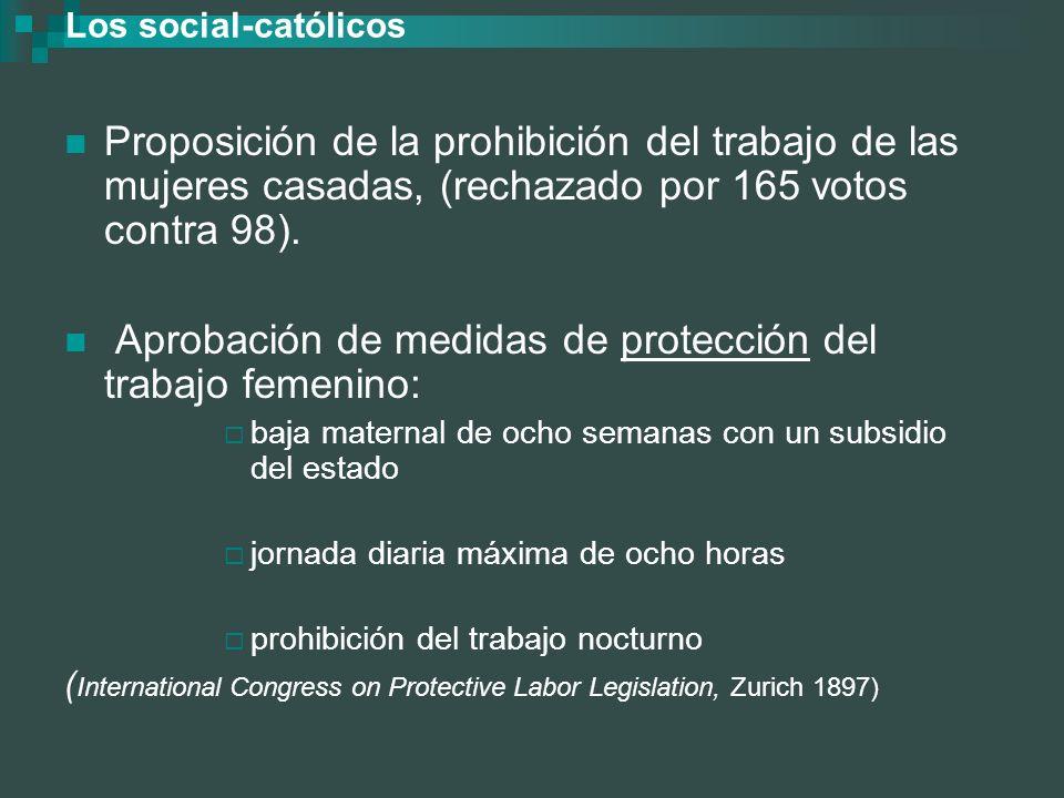 Aprobación de medidas de protección del trabajo femenino: