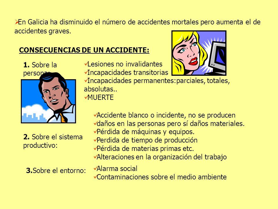 En Galicia ha disminuido el número de accidentes mortales pero aumenta el de