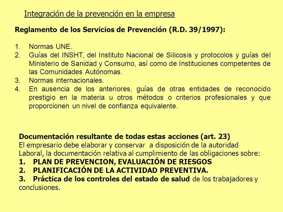Integración de la prevención en la empresa