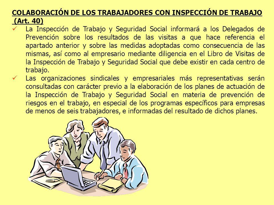 COLABORACIÓN DE LOS TRABAJADORES CON INSPECCIÓN DE TRABAJO