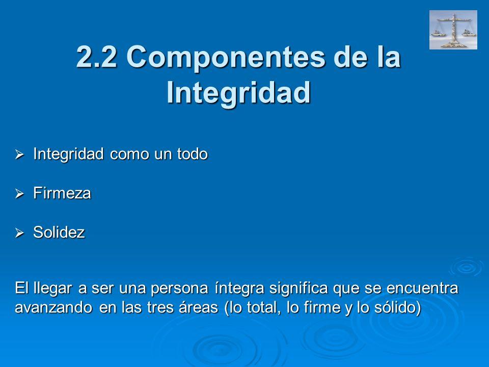 2.2 Componentes de la Integridad