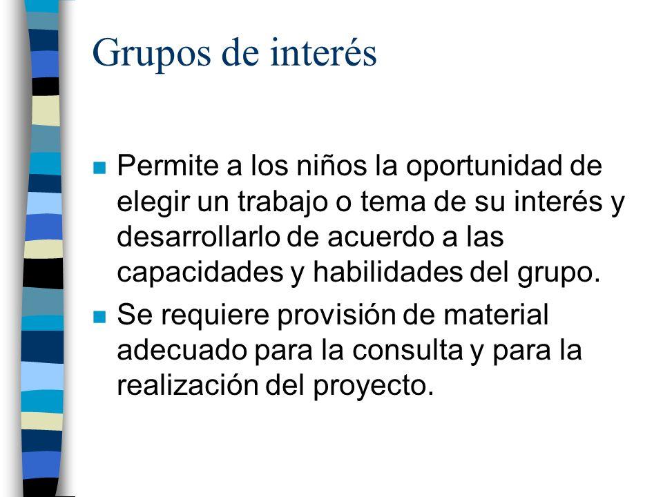 Grupos de interés