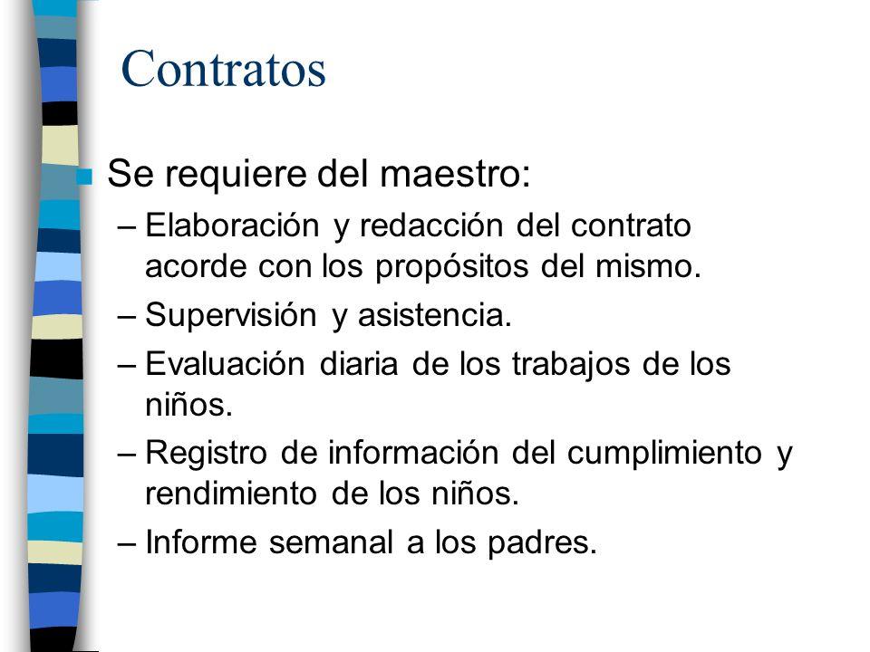 Contratos Se requiere del maestro:
